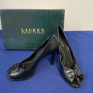 Ralph Lauren Genuine Leather Black Heels